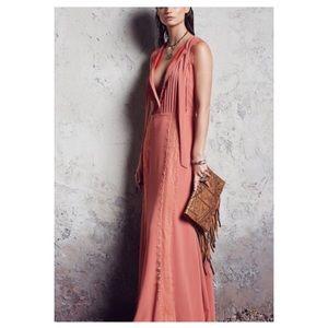 Tularosa Ray Pink Lace Maxi Dress